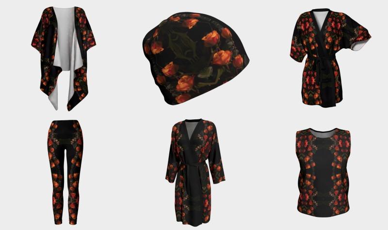 Aperçu de Orange Rose Belle Noir 1644