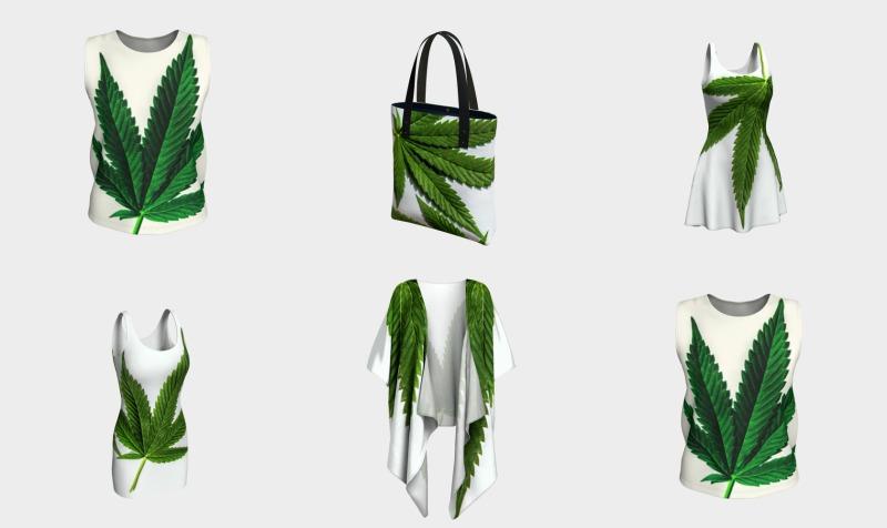 Aperçu de Marijuana Leaf Vintage Style