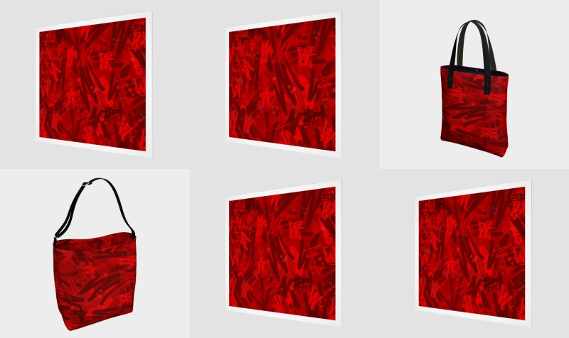 Abstract in red preview