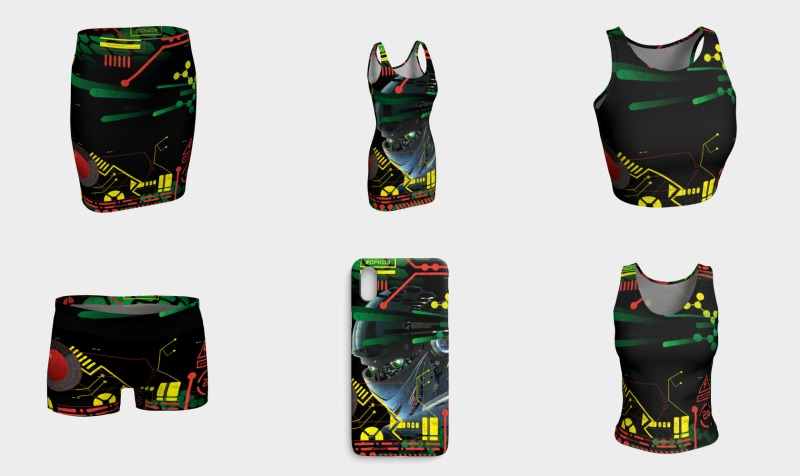 Futuristic Sci-Fi Techno Red Green Yellow preview