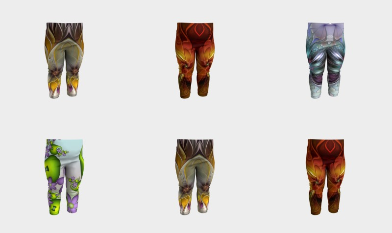 Floral Fantasy Colorful Baby Leggings preview