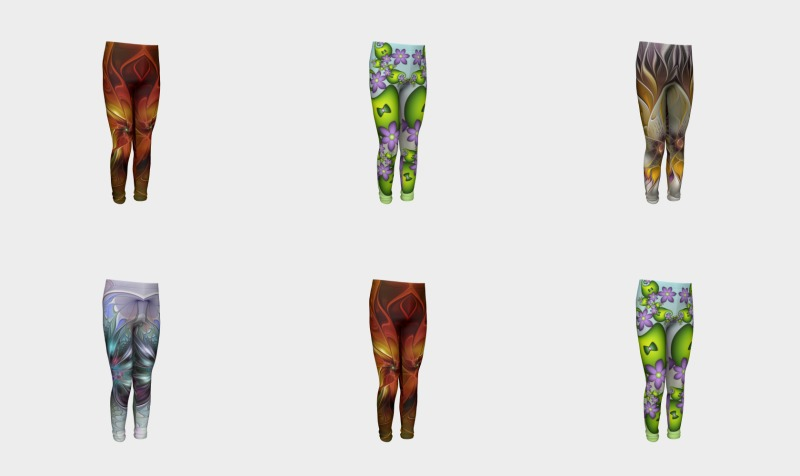 Floral Fantasy Colorful Youth Leggings preview