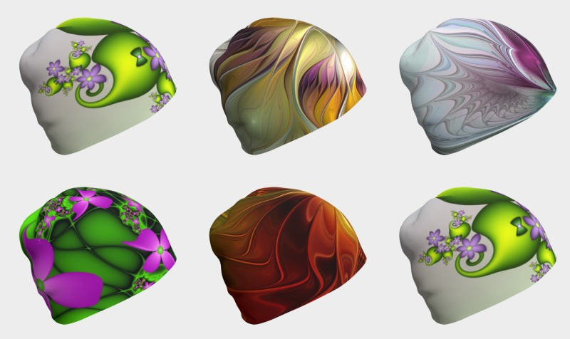 Floral Fantasy Colorful Beanies preview