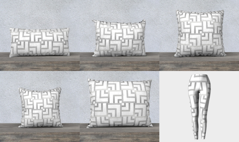 White and Silver Squares preview