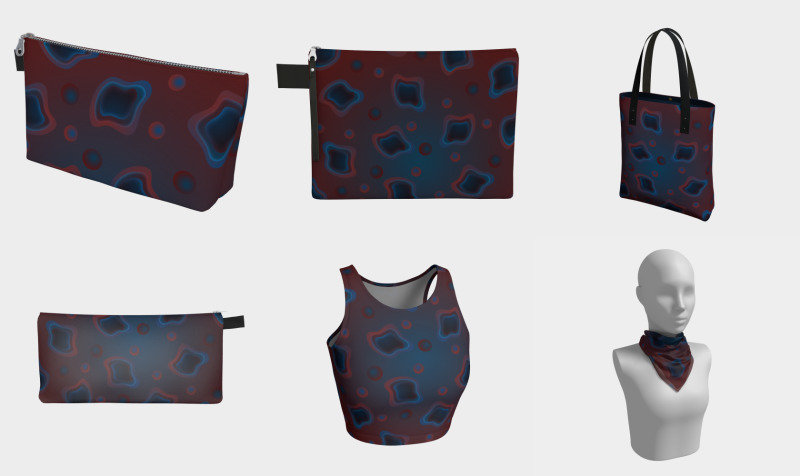 Red & Blue rounded shapes preview