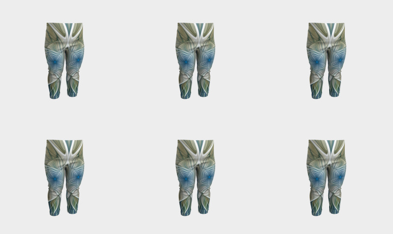 Floral With Blue Baby Leggings preview