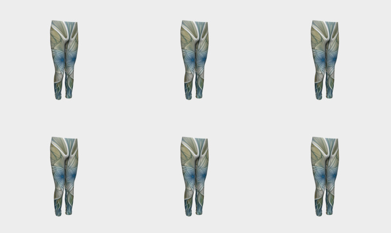 Floral With Blue Youth Leggings preview