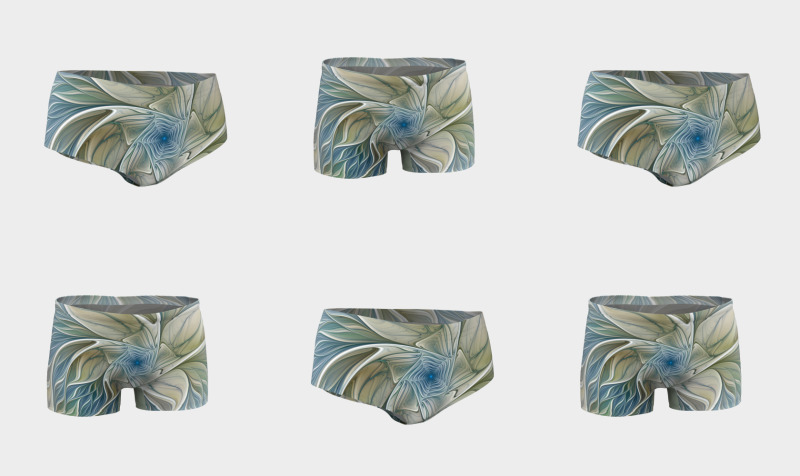 Floral With Blue Shorts preview