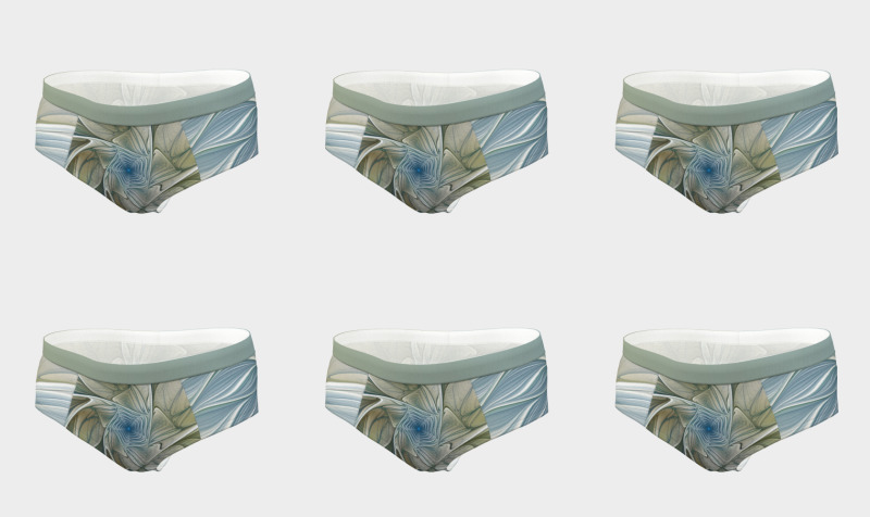 Floral with Blue Cheeky Briefs preview