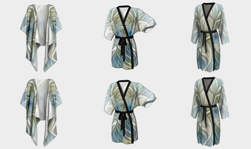 Floral with Blue Kimonos and Peignoirs preview