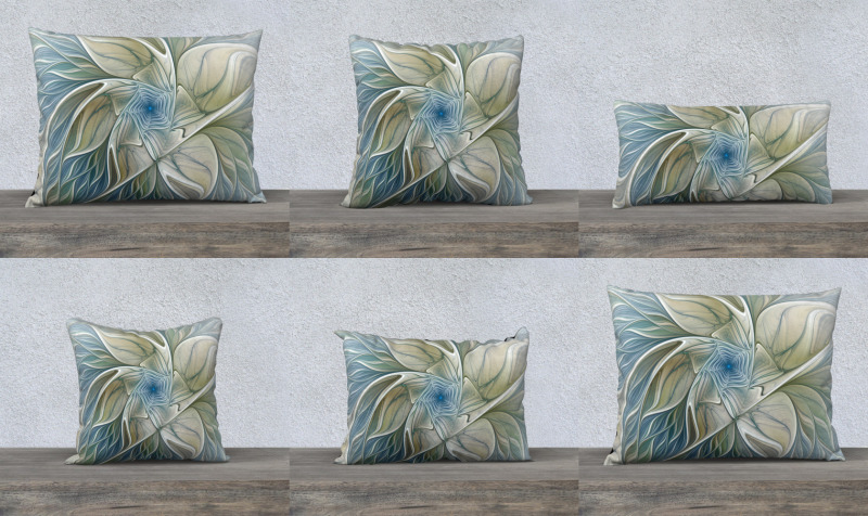 Floral with Blue Pillow Cases preview