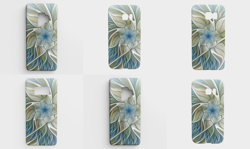 Floral with Blue Galaxy Cases preview