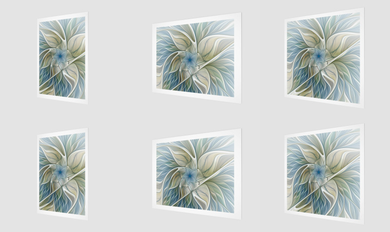 Floral with Blue Wall Art preview