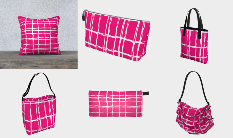 Pink and White Geometric Line Pattern preview