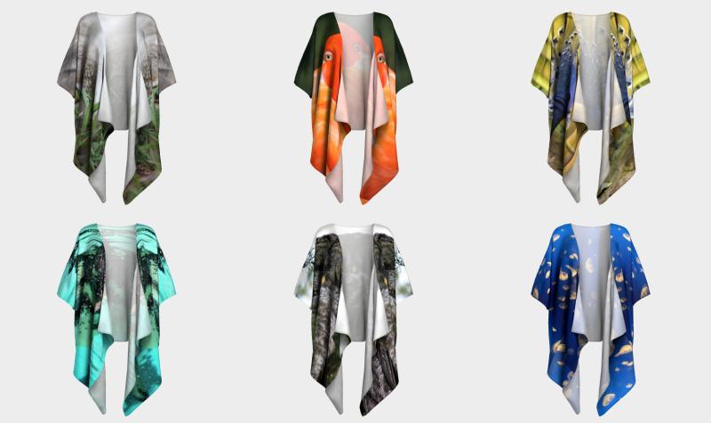 Wildlife - Animals & Birds Draped Kimonos  preview