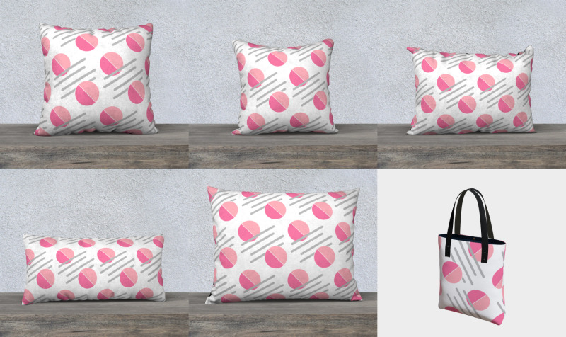 Pink and Grey Geometric Pattern preview