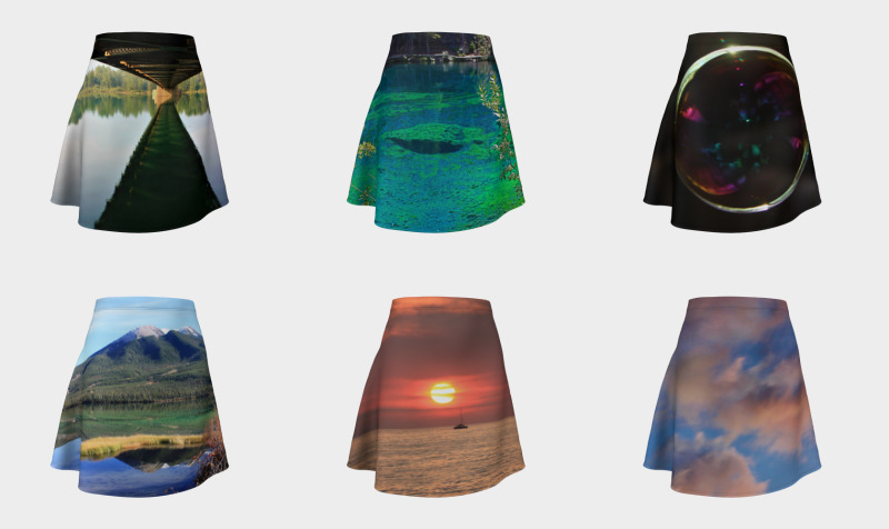 Worldwide Landscapes Flare Skirts preview