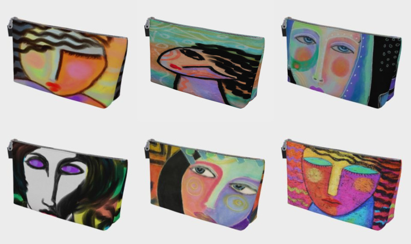 Abstract Women Makeup Bags preview