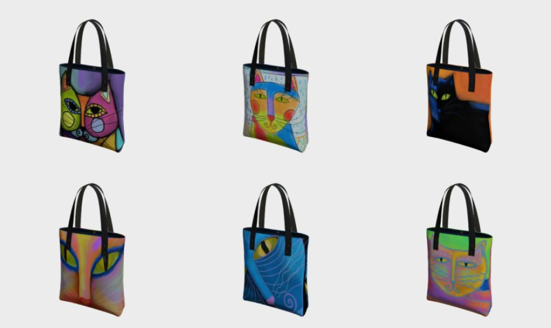 Funky Cats Tote Bags preview