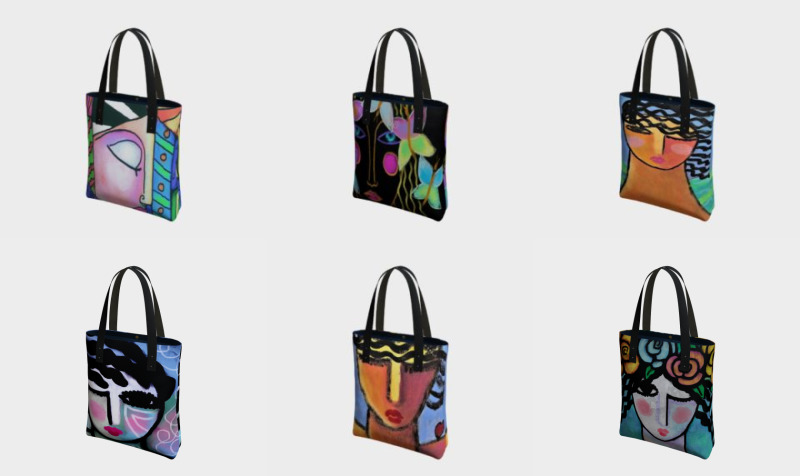 Aperçu de Abstract Women Tote Bags