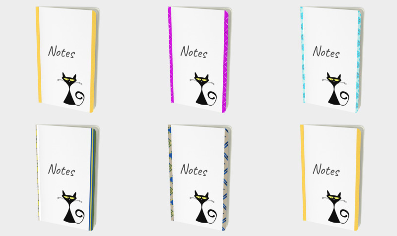 Black Cat Notebooks | Travel Patterns preview