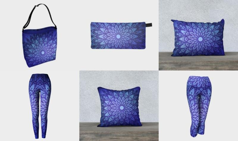 Dark Mandala in Blue preview
