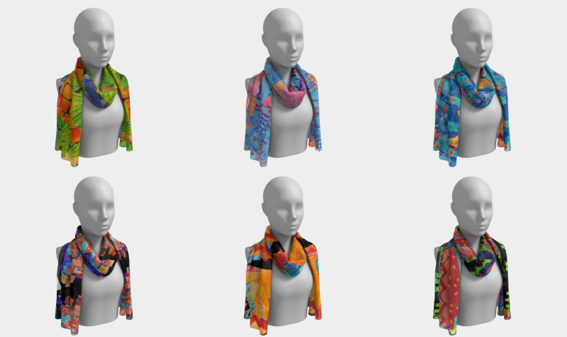 Scarves--SIX feet long or shorter! preview