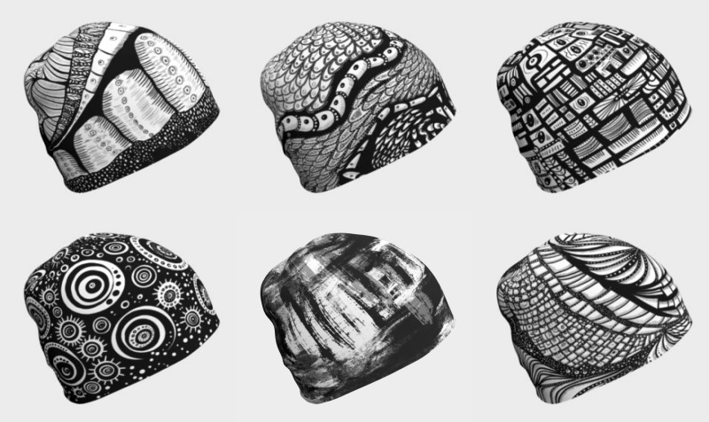 Abstract Black 'n' White Beanies preview