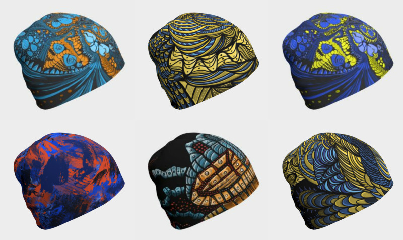 Abstract Colour Beanies preview