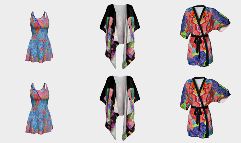 Kimonos, robes, dresses, wraps preview