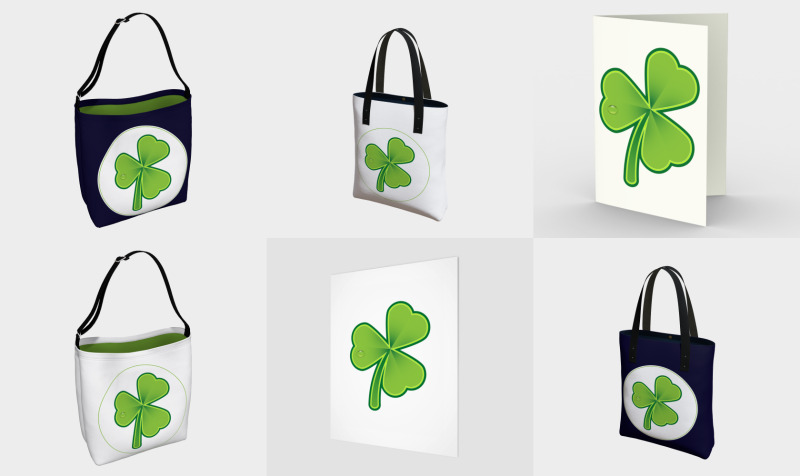 Green Shamrock on white preview