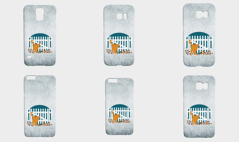 Orange Cat Picket Fence preview