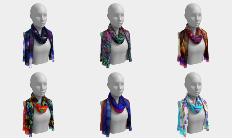 Long Silk Scarves by Surrealpete preview