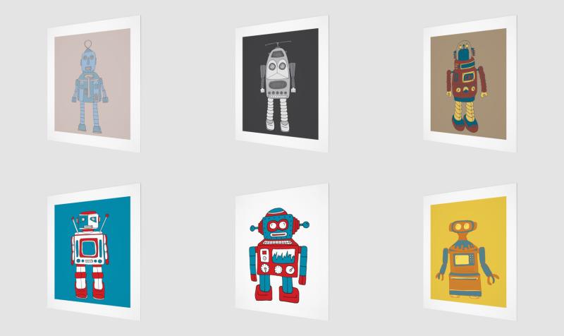 Vintage Robots preview