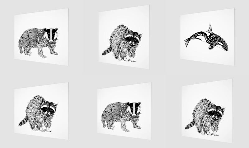Black & White Animals preview