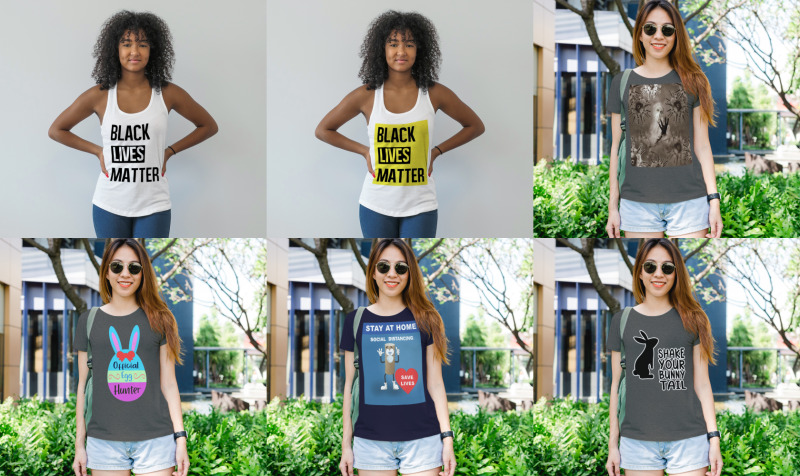Aperçu de Women's T-Shirts, Racerback Tank Tops & Sweatshirts