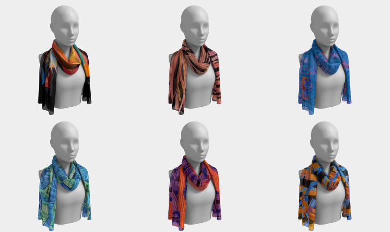More scarves, newest collage designs preview