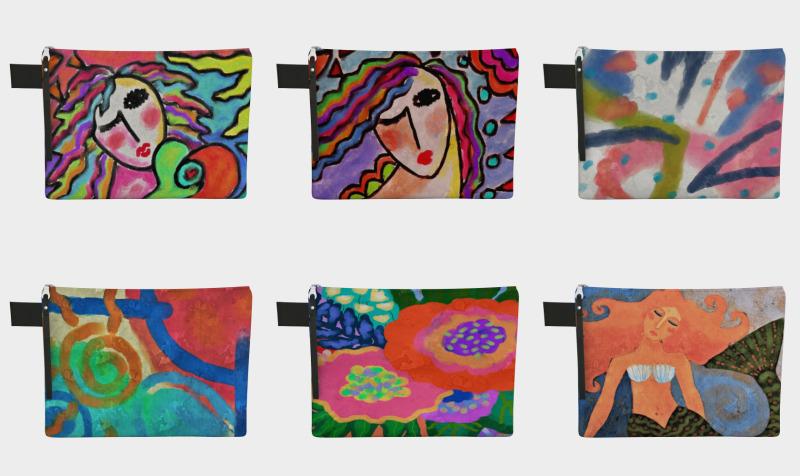 Aperçu de Abstract Art Clutch Bags
