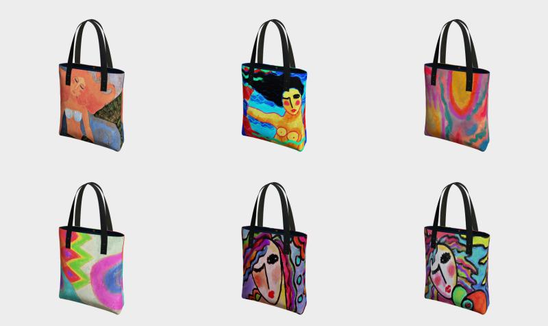 Aperçu de Abstract Art Shoulder Bags