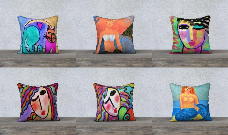 Aperçu de Abstract Art Pillow Covers