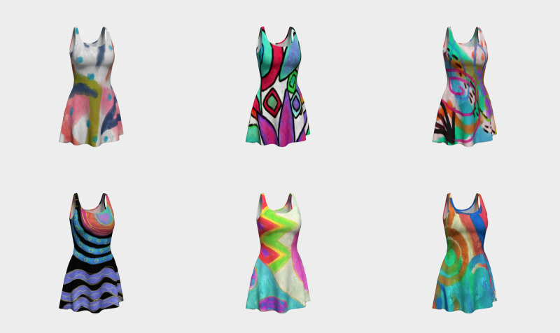 Abstract Art Dresses preview
