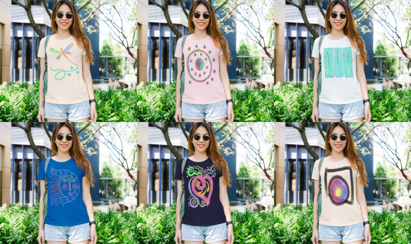 Aperçu de Abstract Art to Wear Women's Tees