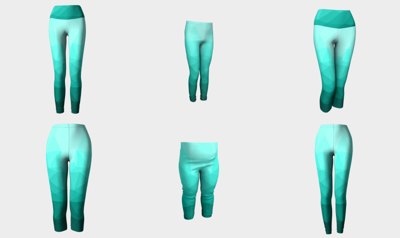 Aqua Turquoise Gradient Geometric Mesh Pattern preview