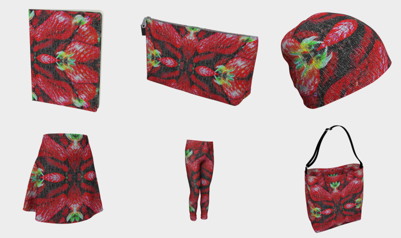 Red Strawberry Patterns preview