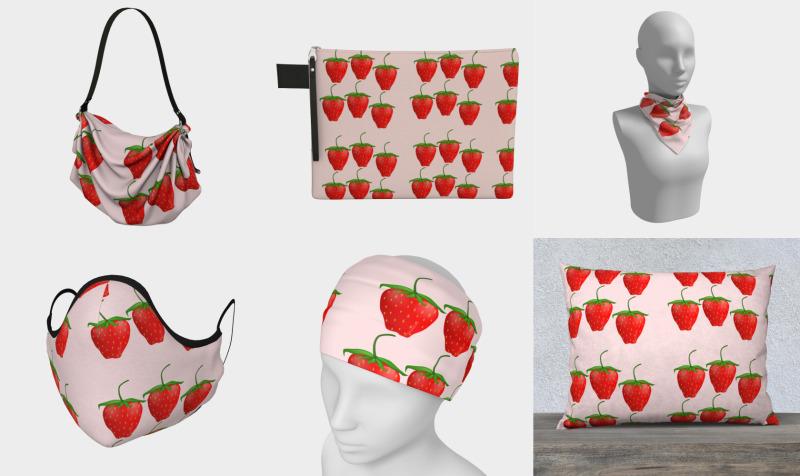 Aperçu de Strawberries on pink