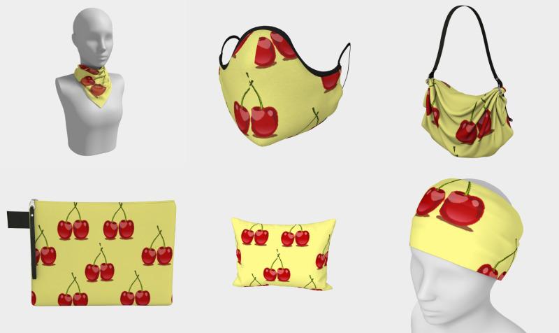 Aperçu de Red cherries pattern