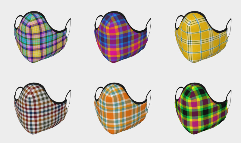 Aperçu de Plaid Face Masks