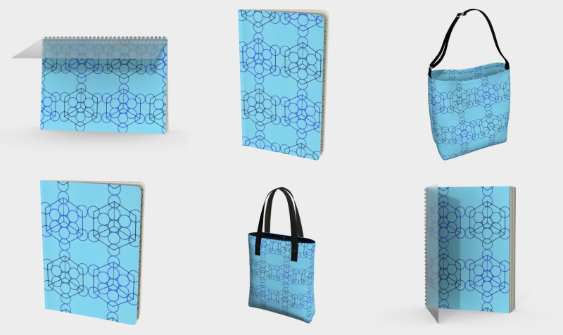 Geometric Tiling Blue preview
