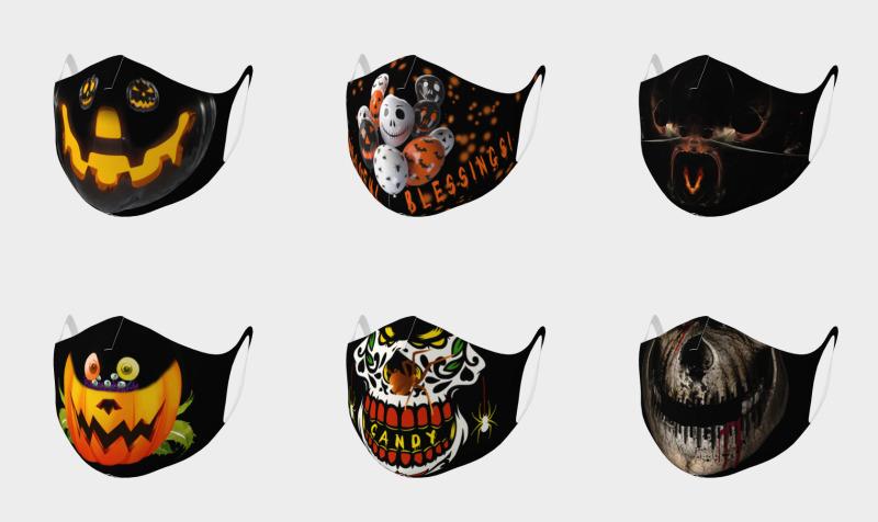 Aperçu de Double Knit Halloween Face Masks
