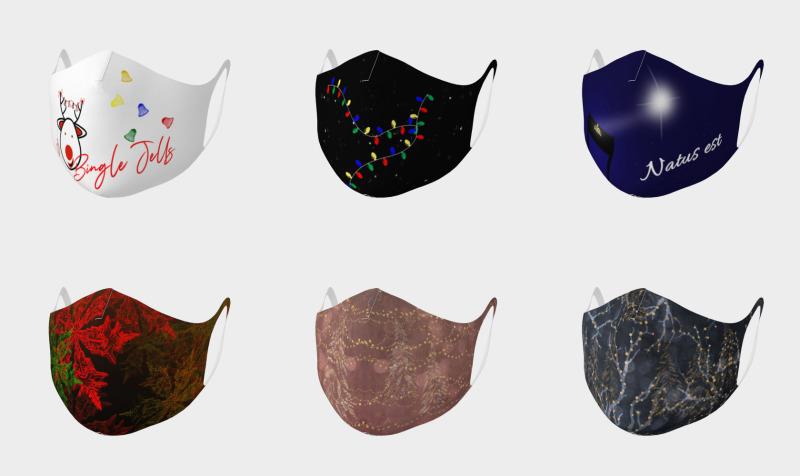 Aperçu de Double Knit Christmas Face Masks